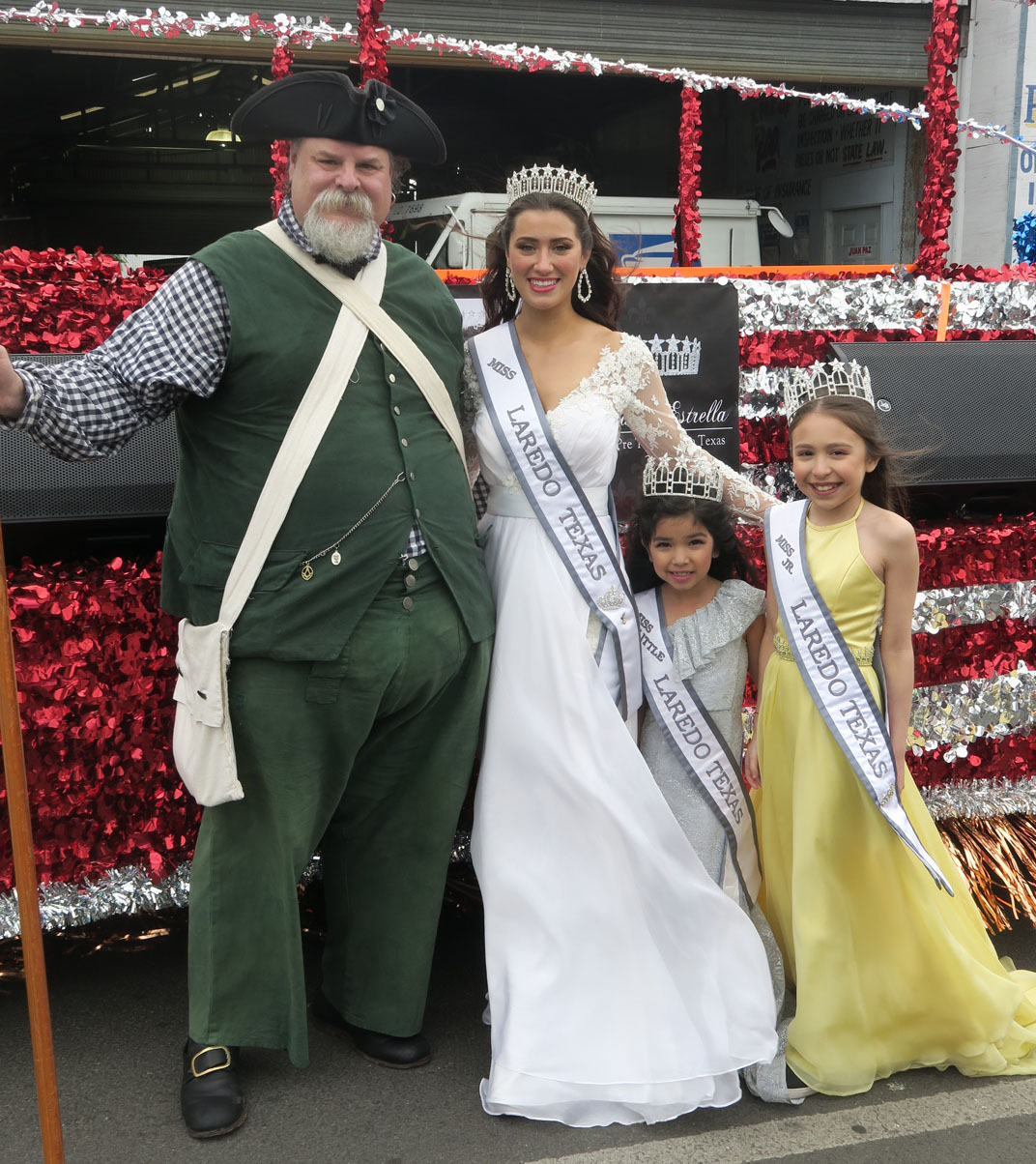 Michael Bailey with parade queens. 22 Feb 2019